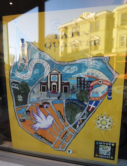 Map of Boston's Latin Quarter