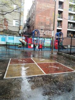 A small playground built in the 1960s to give more play space to North End children, at a time when many more children lived there.