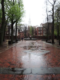 Paul Revere Mall or prado on an unusually empty day. It was built during the Depression to give North End residents some breathing room.