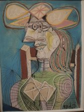 """Seated Woman (Dora),"" 1938 - Pablo Picasso"