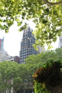 Interesting building overlooking Bryant Park.