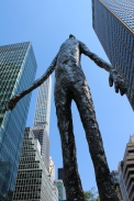 """Look Up,"" a sculpture by Tom Friedman on Park Av"