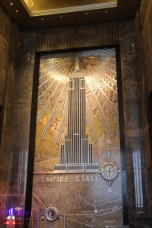 Art Deco decoration in the lobby.