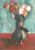 Bouquet of flowers in a chocolate pot, 1902