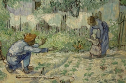 Vincent Van Gogh, First Steps, after Millet, 1890