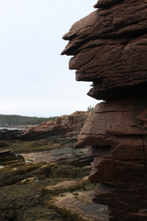 Rocky cliffs.