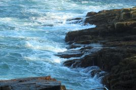 Waves come into Thunder Hole.