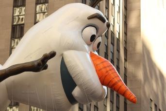 Olaf aloft.