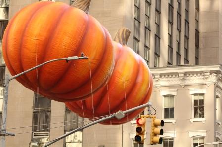 Bobbing pumpkins.