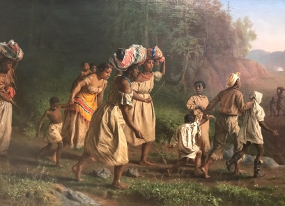 "Theodor Kaufmann's ""On to Liberty"" shows women and children escaping slavery in the midst of a Civil War battle"