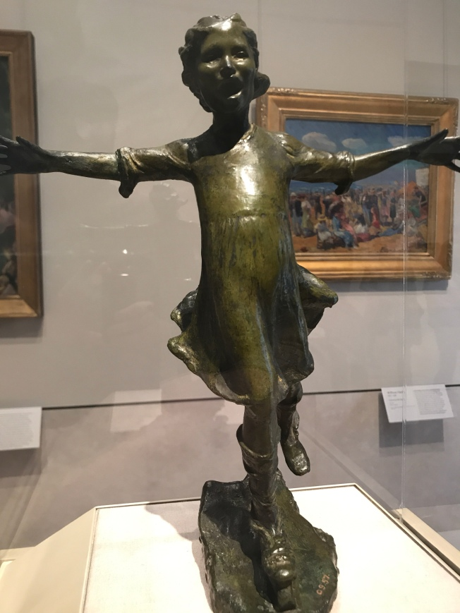 "A joyous ""Girl Skating"" by Abastenia St. Leger Eberle"